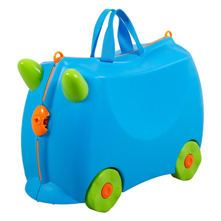 Kiddicare Bon Voyage Kids Ride On Suitcase Luggage Travel Bag Blue
