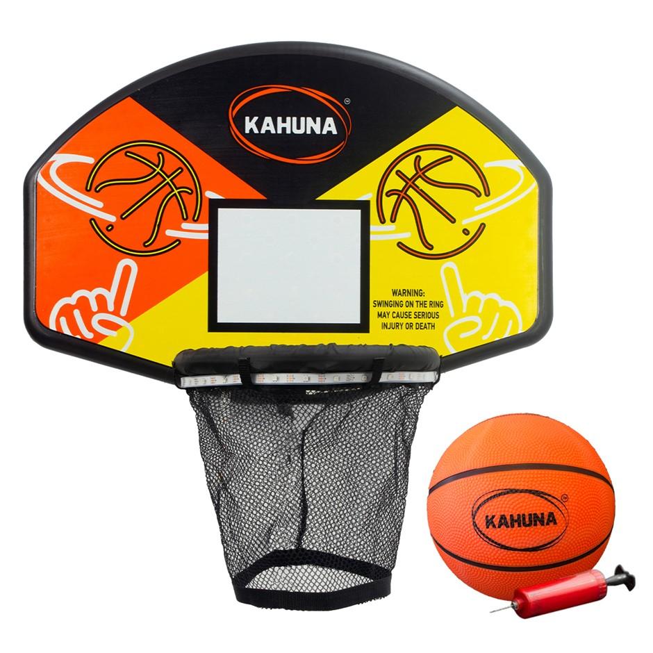 Kahuna Trampoline LED Basketball Hoop Set with Light-Up Ball