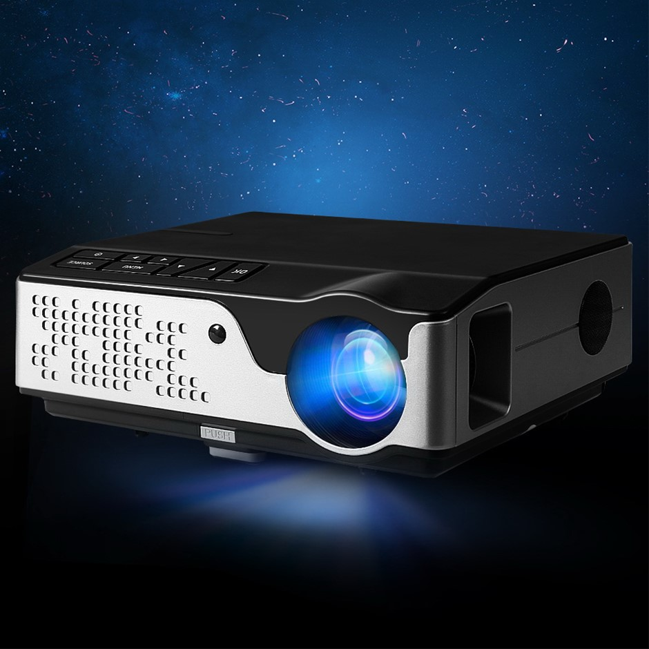 Devanti Video Projector Wifi USB Portable 4000 Lumens HD 1080P