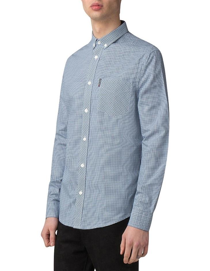 JAMES HARPER Floral Dash Print Shirt. Size XL, Colour: Navy. 100% Cotton. B