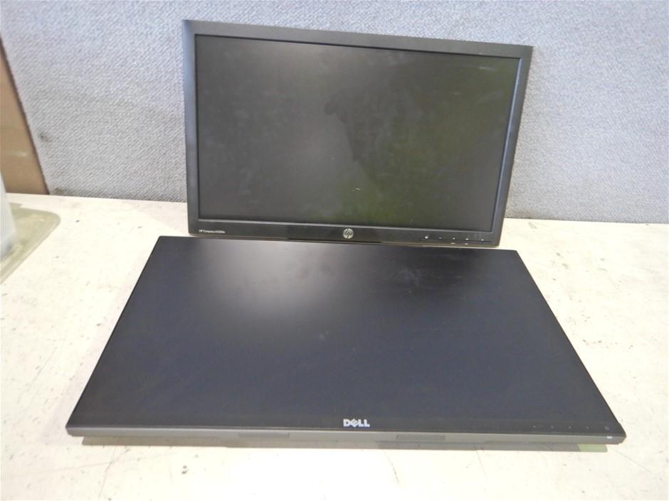 Qty of 4 Assorted LCD Monitors (Pooraka, SA)