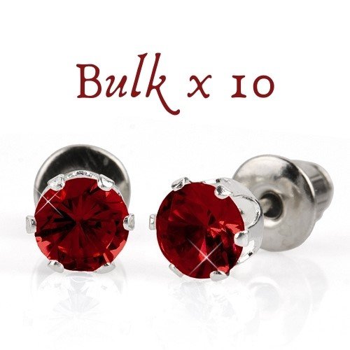 BULK PACK - 10 x 5mm Birthstone Earrings (January) - Great Gift Idea