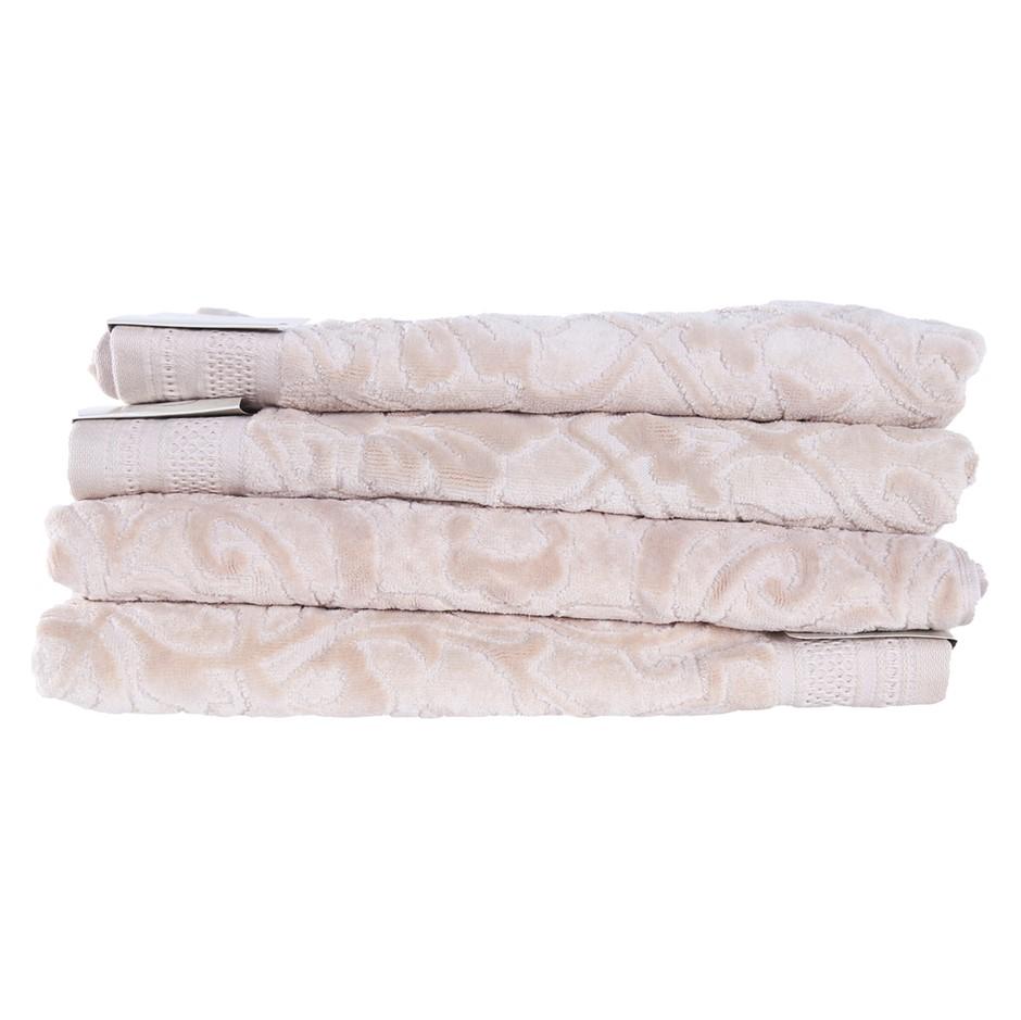 4 x CHARISMA Bath Towel, 100% Cotton, 76cm x 1.47m, Beige. (SN:CC71235) (27