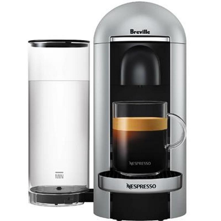 BREVILLE NESPRESSO Vertuo Plus Coffee Machine, Silver. (SN:CC41087) (278404