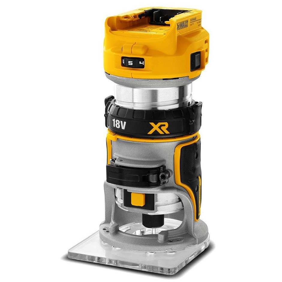 DEWALT 18V XR Li-ion Cordless Brushless 6.35mm (1/4``) Laminate Trimmer Rou