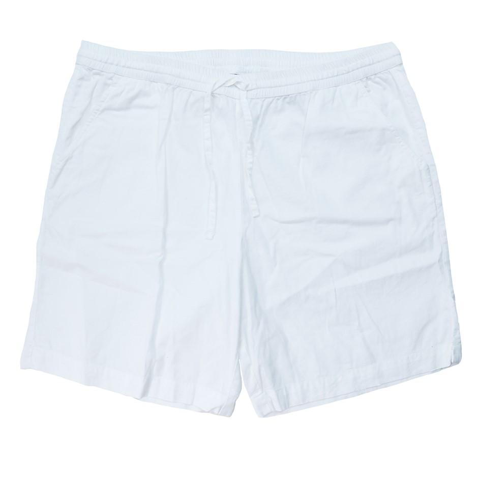 JANTZEN Asr Cotton Drill Short. Size S, Colour: White. Buyers Note - Discou