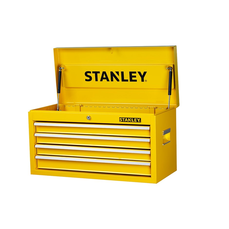 4 x STANLEY 27`` Top Chest. 23kg Storage Capacity. N.B. This is a retail re