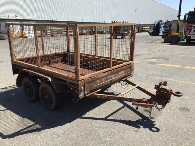 Tandem Axle Box Trailer with Mesh Sides