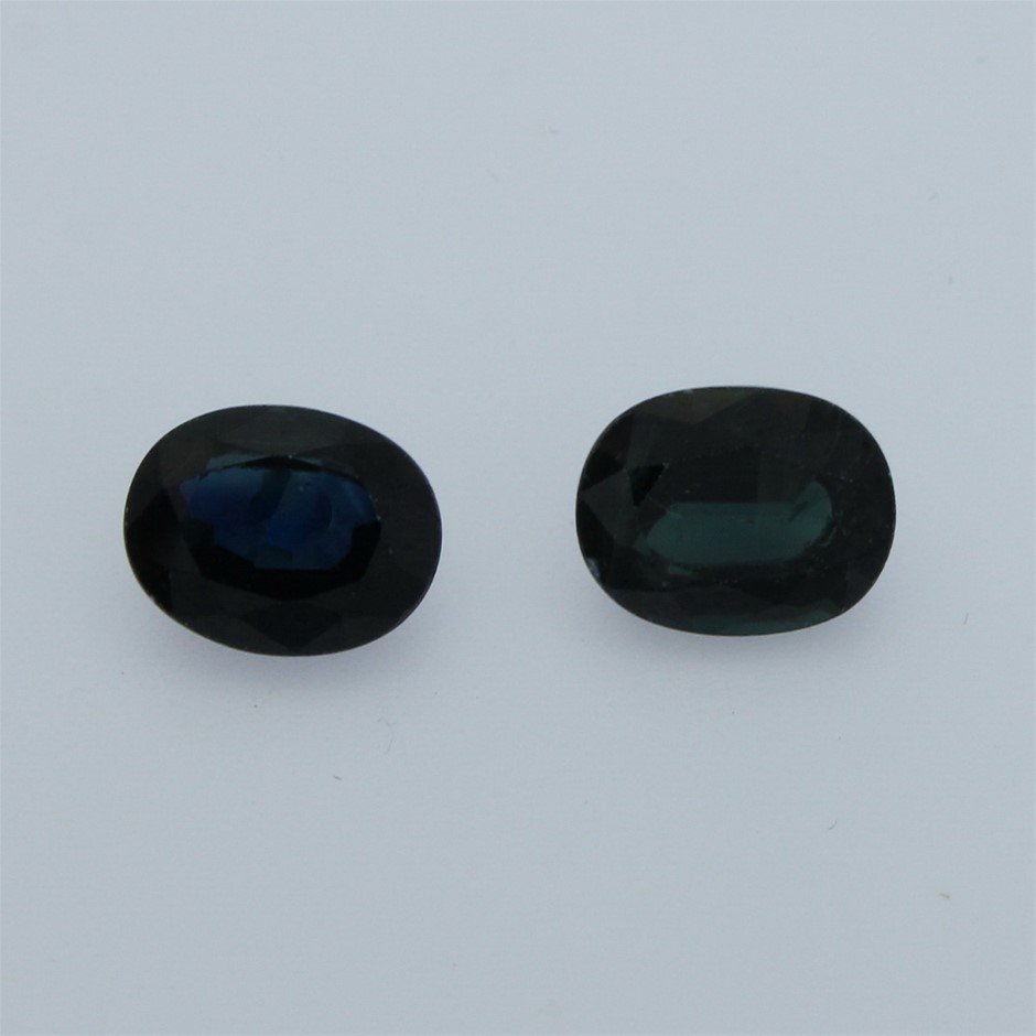 Two Loose Blue Sapphire, 8.30ct in Total