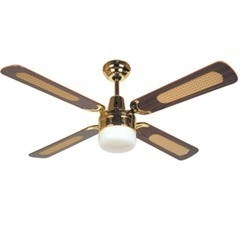 Br Ceiling Fan With Oyster Light