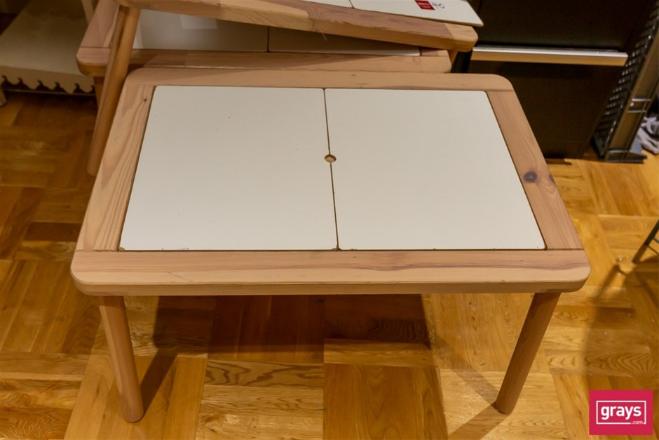 4x Assorted Timber Tables & Stand
