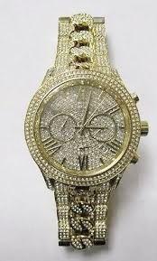 New Michael Kors Linley Gold Plated gemstone stunning gem bracelet watch