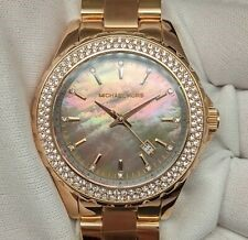 Ladies new Michael Kors NY couture stunningl MOP date watch.