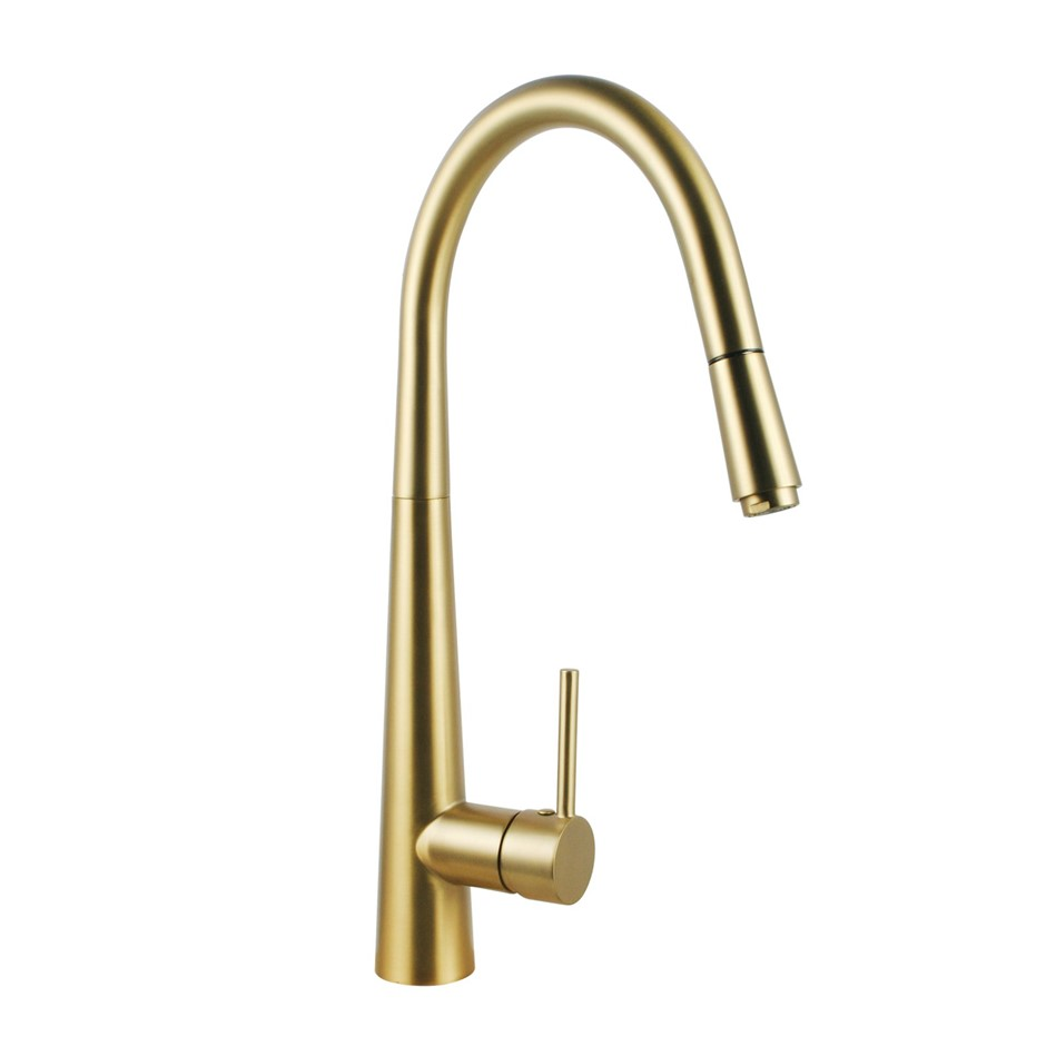 Brass Pull Out Swivel Spout Sink Laundry Mixer Tap Vanity Basin Faucet