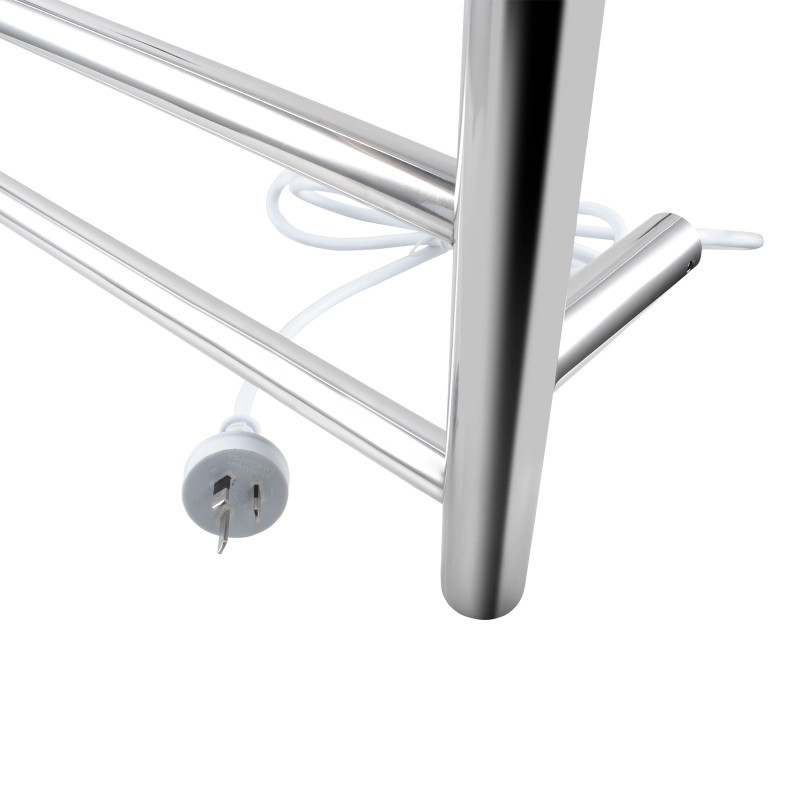 620x600x120mm Round Chrome Electric Heated Towel Rack 6 Bars SS