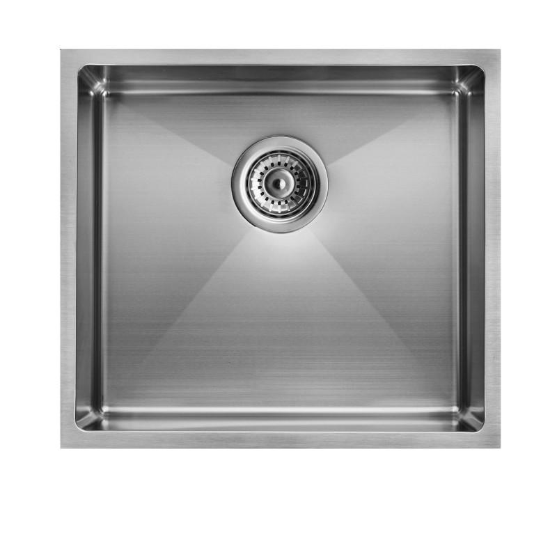 440x440x205mm Round Corner SS Handmade Single Bowl/Laundry Sink