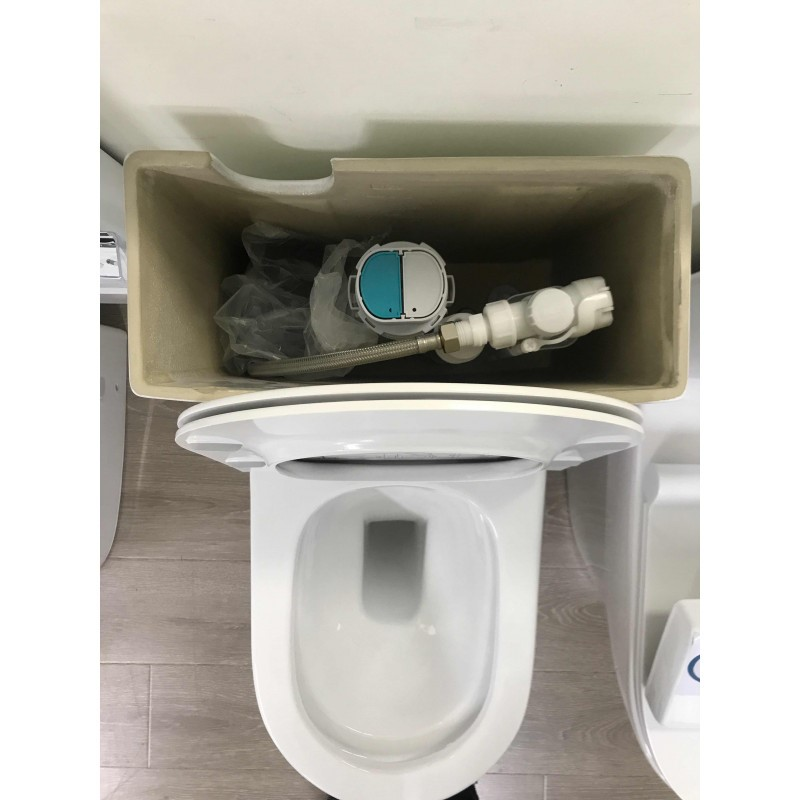 690*370*830mm Bathroom Rimless Back To Wall White Ceramic Toilet Suite