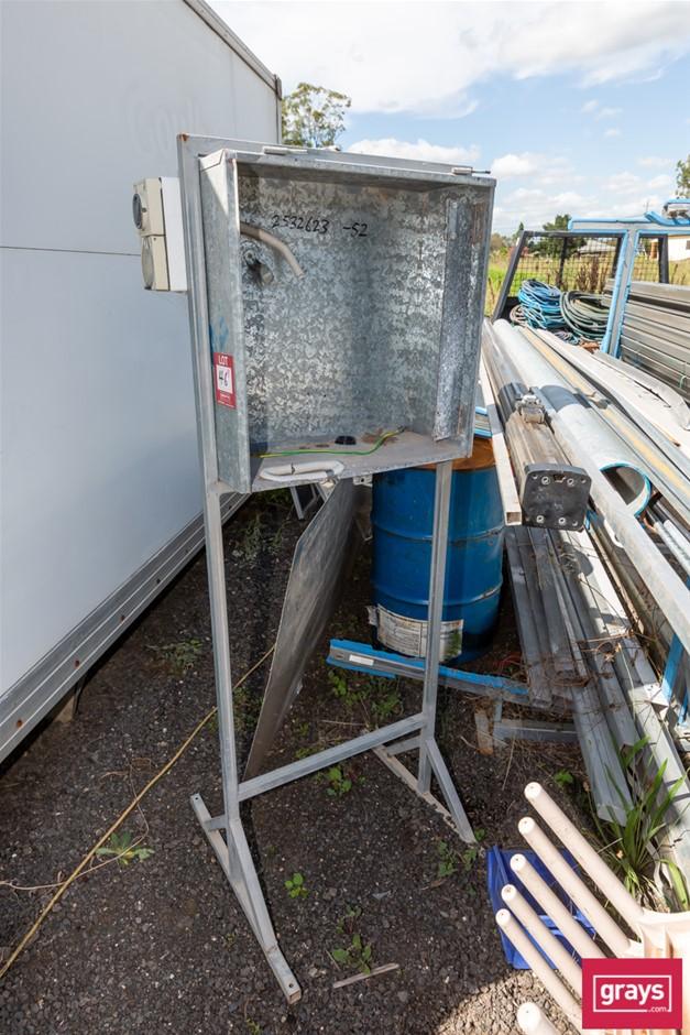 free Standing Site Galvanise Power Box