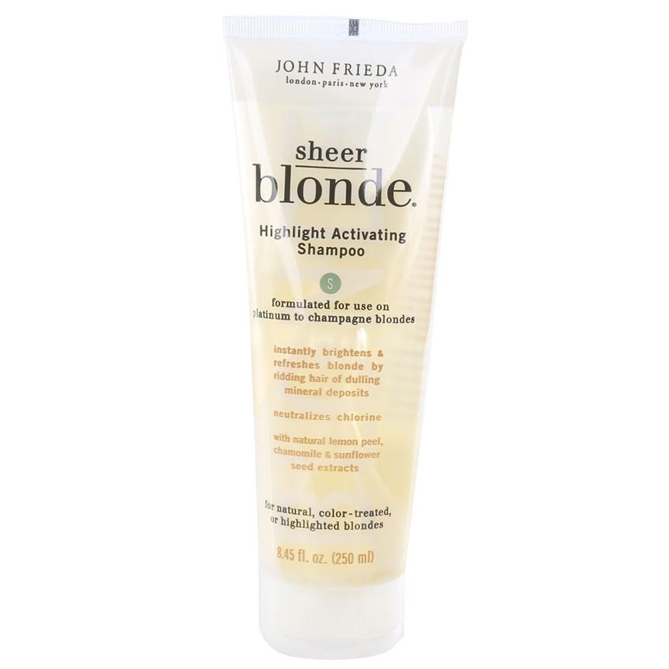 Box of 6 x JOHN FRIEDA Sheer Blonde Shampoo 250ml. Formulated for use on Pl