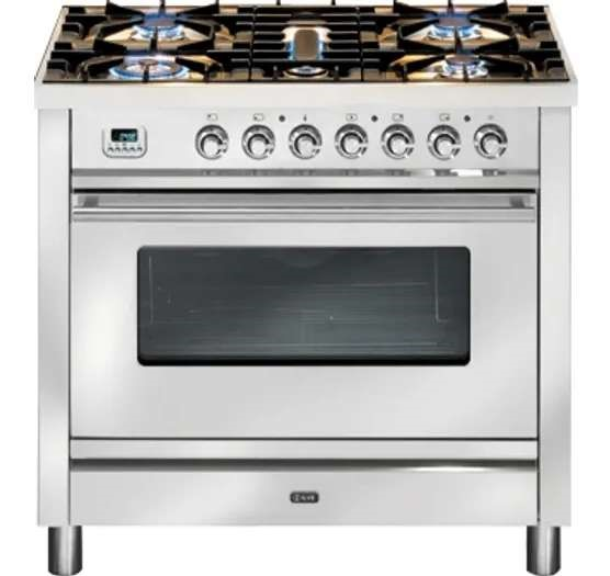 ILVE PW90FVG 90cm Single Gas Oven & Tepanyaki Cooktop