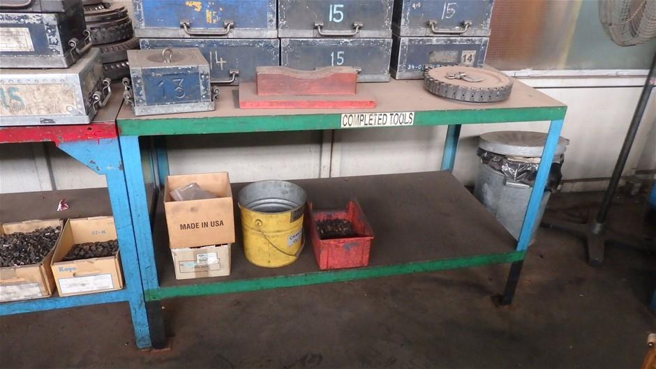 2 x Steel Benches - Single Shelf