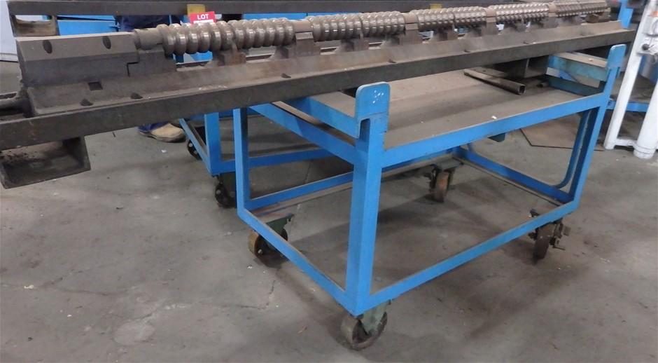 3 x Steel Fabricated Heavy Duty Trolleys