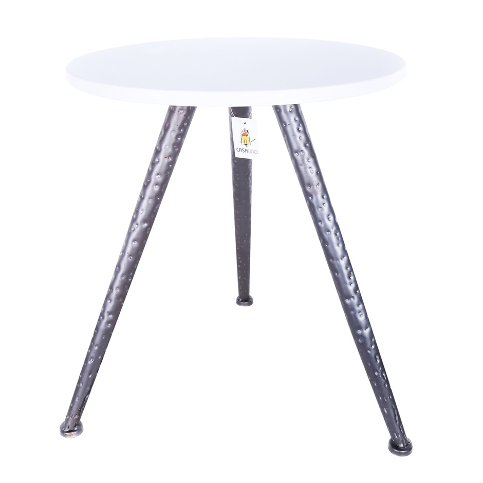 Round Stool KD, Materials Stone/ Iron, HY03, Black. (SN:B02Z2026) (278402-1