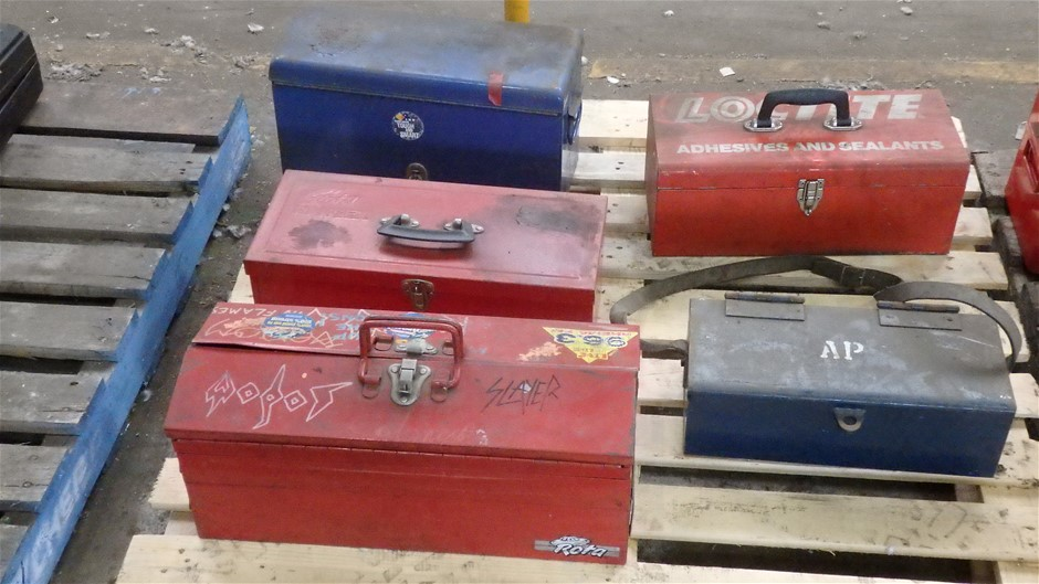 5 x Assorted Steel Toolboxes