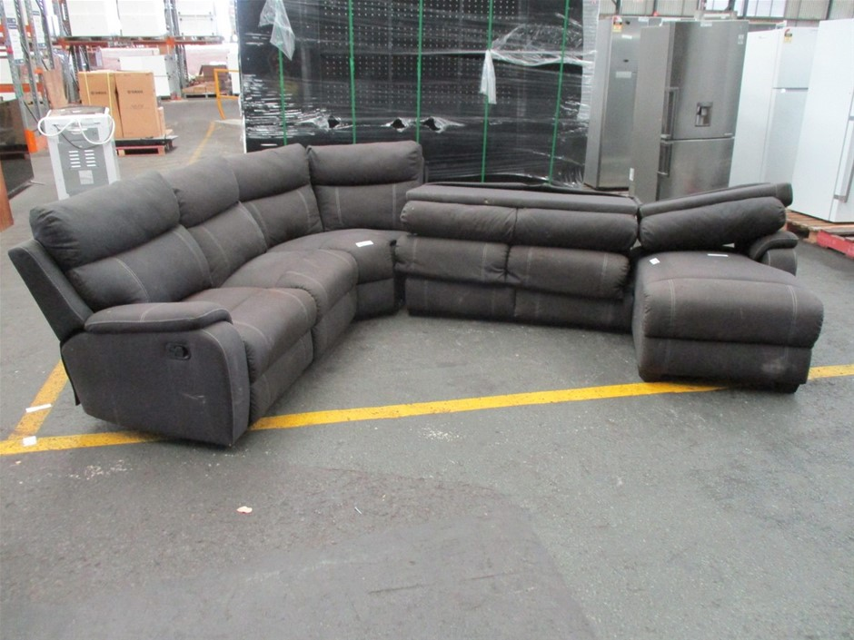 Porter Onyx 6-Seater Modular Lounge with Sofa Bed