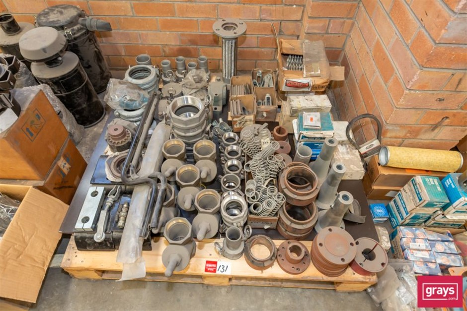 Quantity Assorted Pipe Fittings & Machine Parts