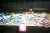 Assorted hardware, including tolsten staples,