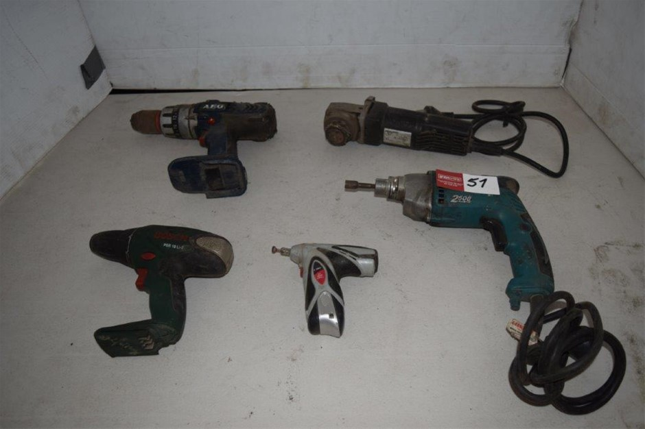 Lot of 5 Corded and Cordless Power Tools