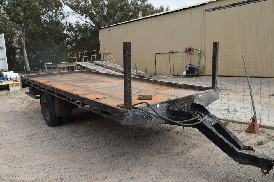 Custom Built Single Axle Flat Deck Trailer