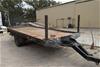 Custom Built Single Axle Flat Deck Trailer
