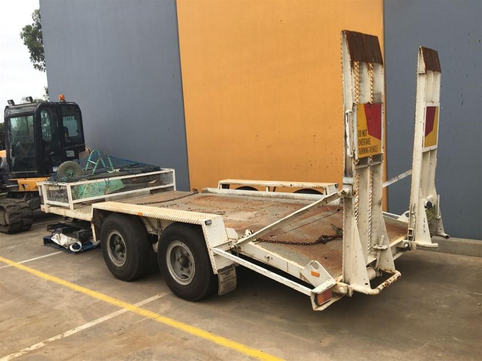 Dual axle plant trailer
