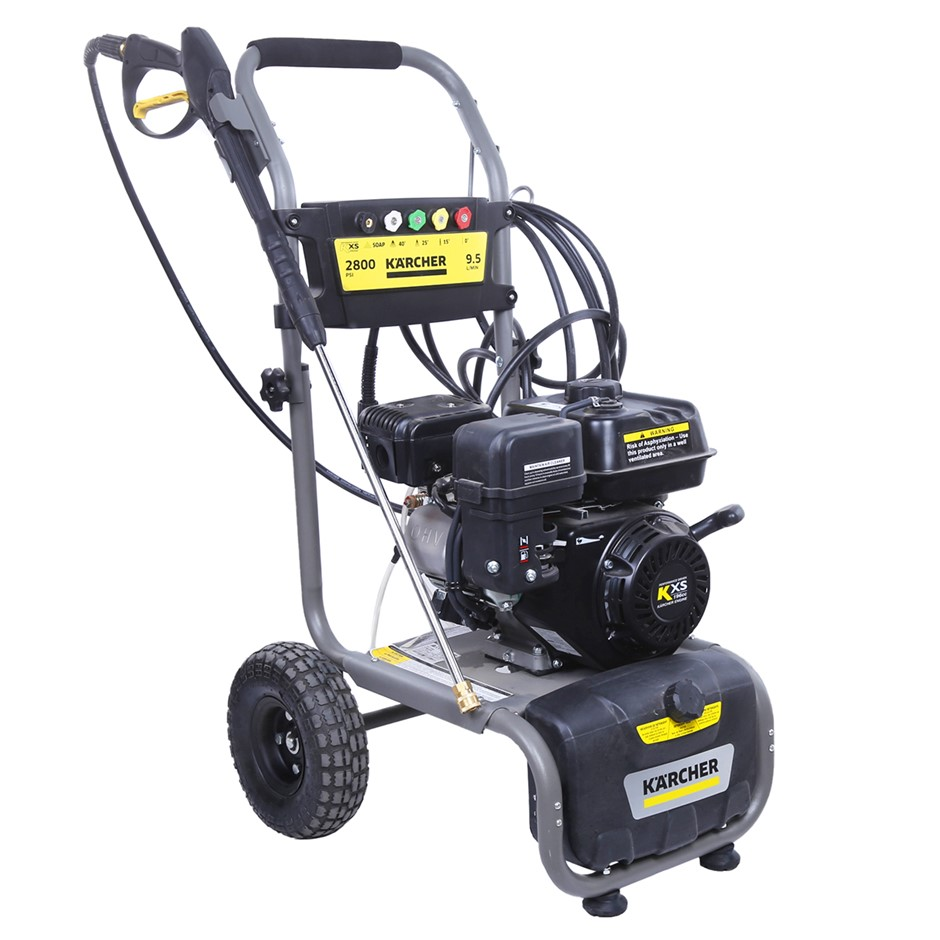 KARCHER 2800psi Pressure Washer with 196cc Petrol Engine, Mounted on Mobile