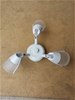 Domus Three Headed Fan Light with Crystal Glass Lamps/Halogen Included