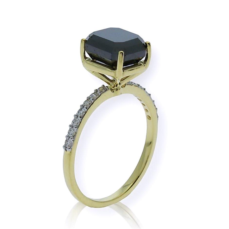 18ct Yellow Gold, 4.09ct Diamond Engagement Ring
