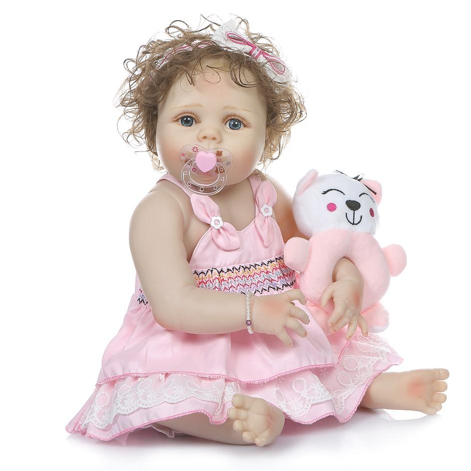 56cm Reborn Doll Real Life Baby Girl Silicone Cute Vinyl Realistic Newborn