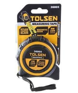 2 x TOLSEN Measuring Tapes 8M x 25mm, Ny