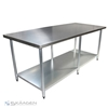 Unused 2134mm x 760mm Stainless Steel Bench