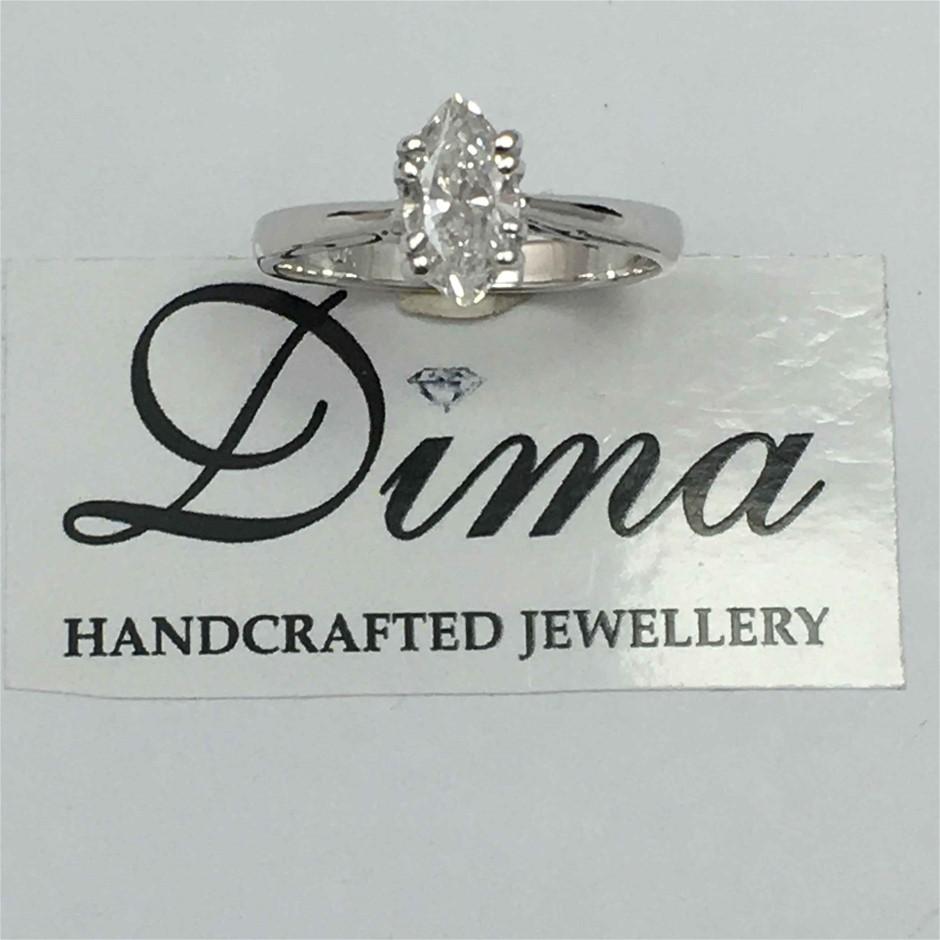 18ct White Gold, 0.71ct GIA Diamond Ring