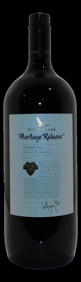 Wolf Blass Heritage Release Shiraz Cabernet 2016 (1x 1.5L). 5 Star Prov!