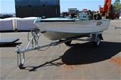 Boat Quintrex 4.4m Aluminium Seaman Hull with Trailer