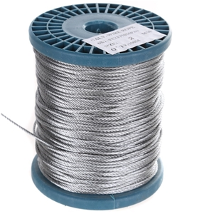 Reel 100M x Galv. Wire Rope, 2.0mm Dia.