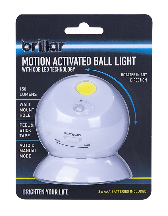 Motion Activated Ball Light with COB LED Technology