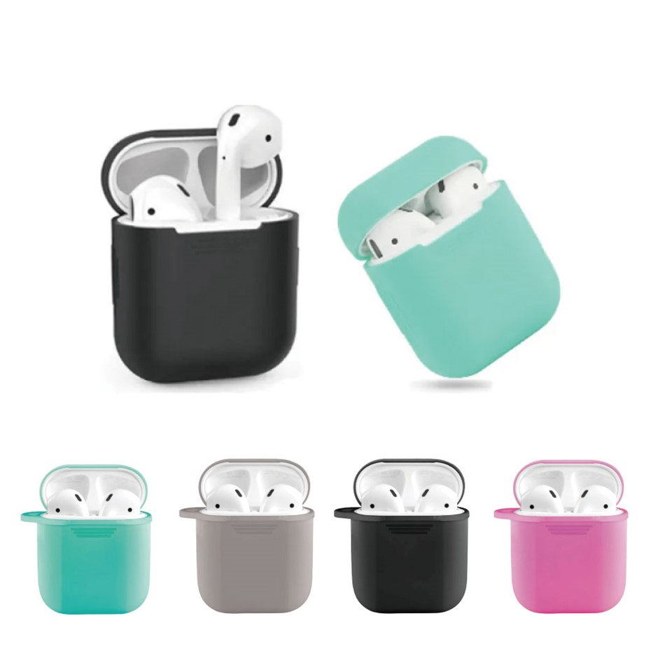 4Pcs 4 Colors Silicone Gel Skin Holder Protector For Airpods
