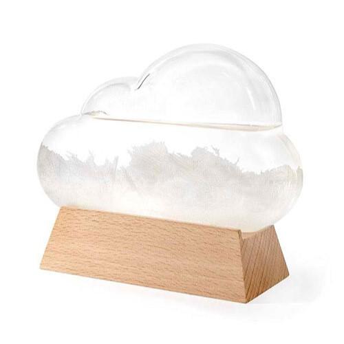 Cloud Shaped Storm Glass Barometer Weather Forecast Station