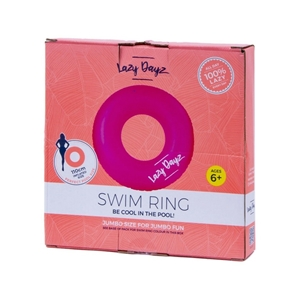 Pool Float Inflatable Swim Ring Teal/Pin