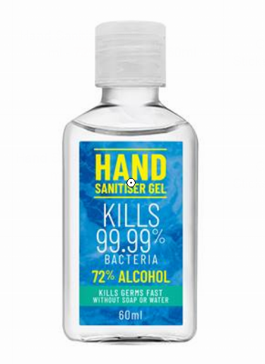 60ml Hand Sanitizer Gel 72% Alcohol